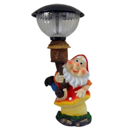 Купить Фонарь декоративный на солнечной батарее Valenсia «Гном на грибе»