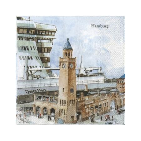 Купить Салфетки бумажные для декупажа IHR «Гамбург»