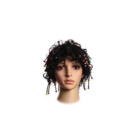 Купить Парик женский Шампания «Короткие косички с бусами». В ассортименте