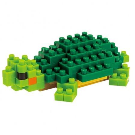 Купить Мини-конструктор Nanoblock «Красноухая черепаха»
