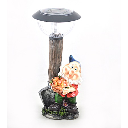 Купить Фонарь декоративный Valencia «Гном с урожаем»