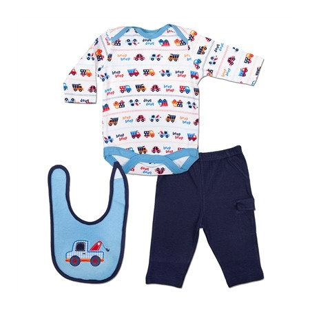 Купить Комплект для мальчика: боди со штанишками и нагрудник Bon Bebe FAR-145B25