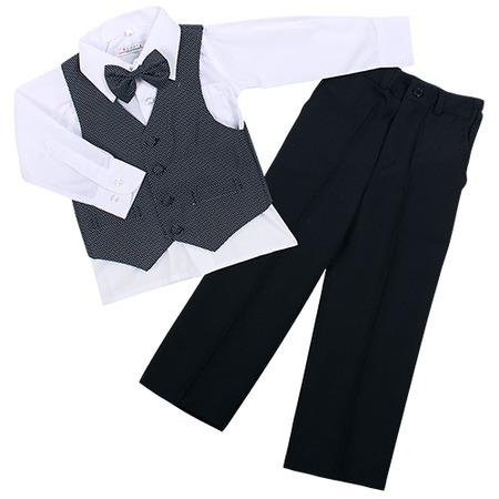 Купить Комплект для мальчиков: рубашка, бабочка, жилет и брюки Rodeng ЯВ115457