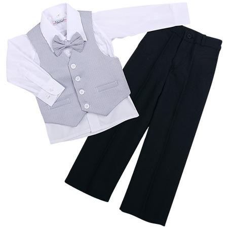Купить Комплект для мальчиков: рубашка, бабочка, жилет и брюки Rodeng ЯВ115458