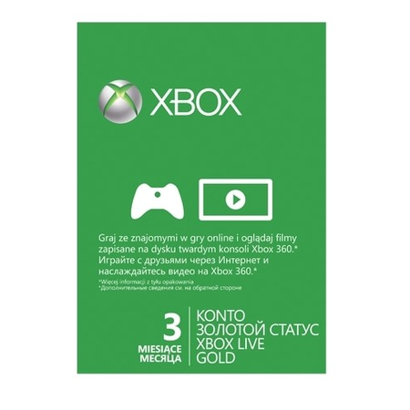 Купить Карта подписки Microsoft Xbox 360 Live Gold на 3 месяца