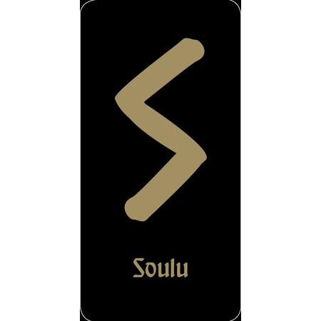 """Купить Руна """"Soulu - жизненная сила"""" (черная)"""