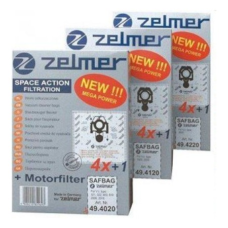 Купить Комплект: 4 мешка и фильтр для пылесосов ZELMER A494220.00