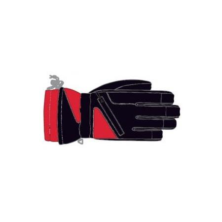 Купить Перчатки горнолыжные GLANCE Fighter (2012-13). Цвет: красный, черный