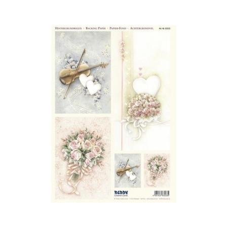 Купить Аппликация вырубная для объемных рисунков Reddy Creative Cards «Свадебные мотивы»