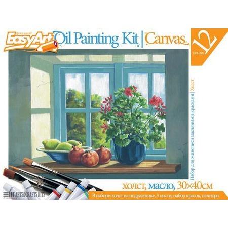 Купить Набор для живописи масляными красками EasyArt №6 «Цветы на окне»