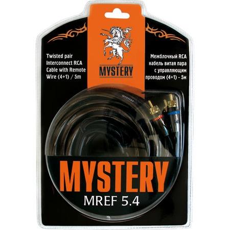 Купить Кабель rca межблочный четырехканальный Mystery MREF двойной экран