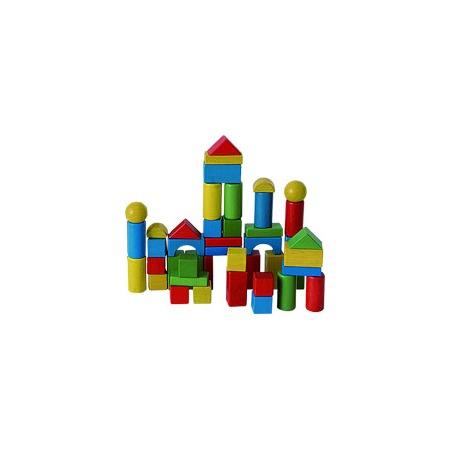 Купить Кубики деревянные, 45 шт. (в ведерке)