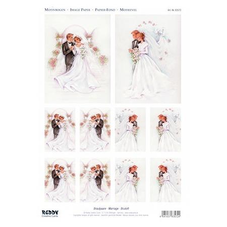 Купить Аппликация вырубная для объемных рисунков Reddy Creative Cards «Жених и невеста»