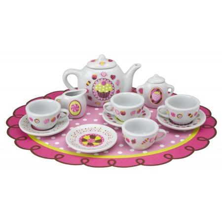 Купить Набор посуды игровой ALEX «Веселое чаепитие»