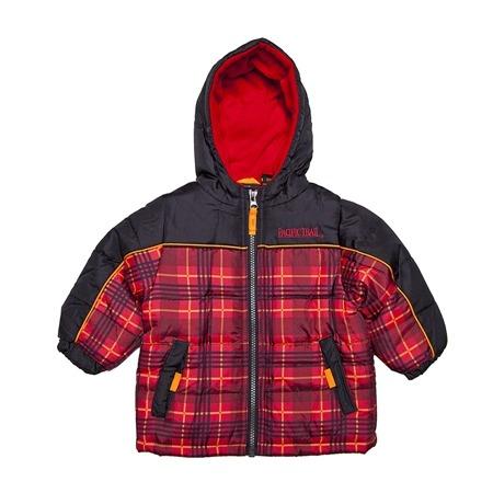 Купить Куртка утеплённая с капюшоном PacificTrail Шотландка-black