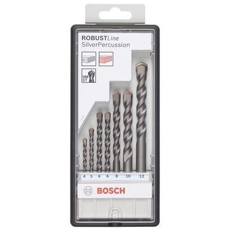 Купить Набор сверл по бетону Bosch Robust Line Silver Percussion 2607010545