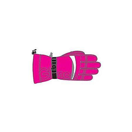 Купить Перчатки горнолыжные GLANCE Element (2011-12). Цвет: розовый, белый