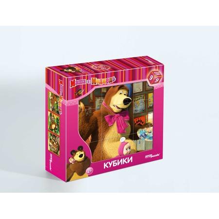 Купить Кубики Step Puzzle «Маша и Медведь» 87133