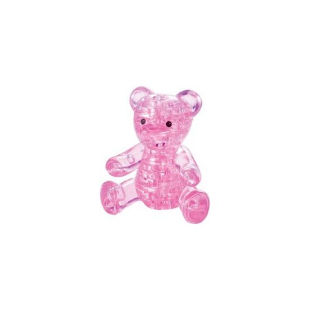 Купить Кристальный пазл 3D Crystal Puzzle «Мишка розовый»