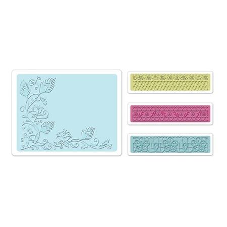 Купить Набор форм для эмбоссирования Sizzix Textured Impressions Лоза