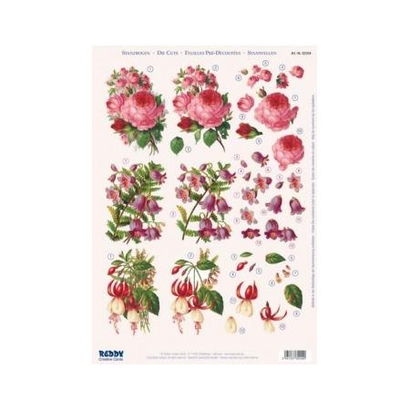 Купить Аппликация вырубная для объемных рисунков Reddy Creative Cards «Розы, фуксия»
