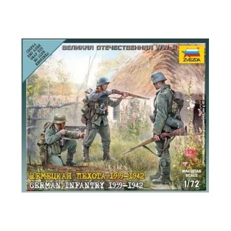 Купить Сборная модель Звезда Немецкая пехота 1939-1942 годов
