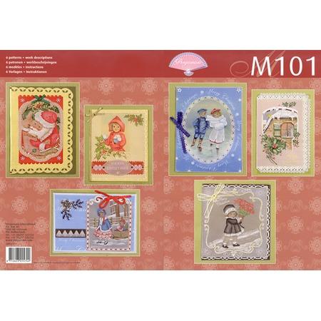 Купить Набор схем для парчмента Pergamano М101 Викторианское Рождество