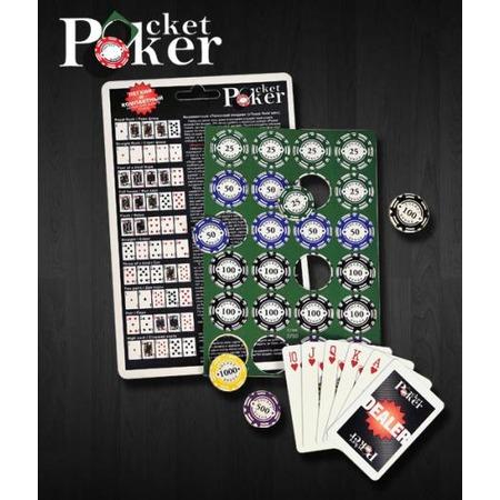 Купить Набор походный для покера Pocket Poker, 120 фишек