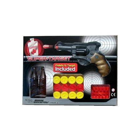 Купить Пистолет с мишенями и пульками Edison Giocattoli Champions-Line Supertarget