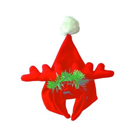 Купить Шапка новогодняя с ободком Снегурочка «Рога оленя»