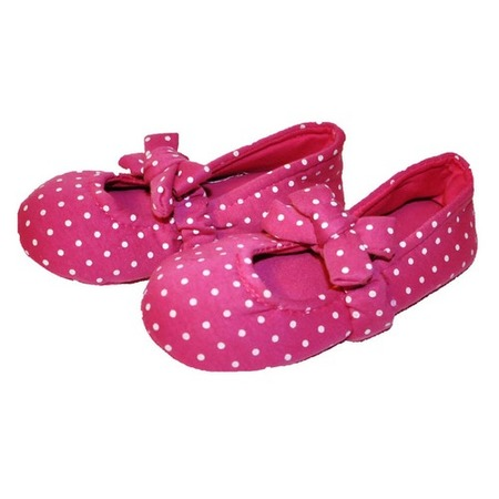 Купить Носки-тапочки HOBBY LINE «Горошек». Цвет: розовый