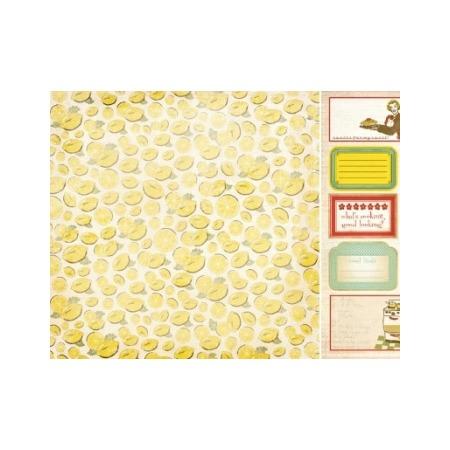 Купить Бумага для скрапбукинга двусторонняя Kaisercraft Lemon Slic