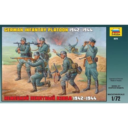 Купить Миниатюра Звезда Немецкий пехотный взвод 1942-1944 годов