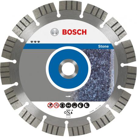 Купить Диск отрезной алмазный для угловых шлифмашин Bosch Best for Stone 2608602641