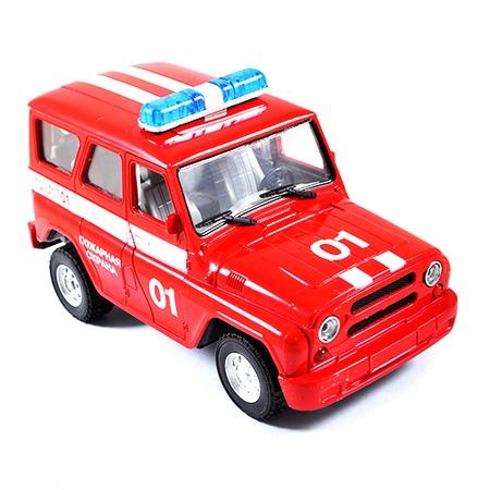 Купить Машина инерционная Joy Toy «УАЗ Hunter - Пожарная» Р40512