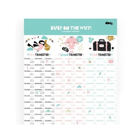 Купить Календарь для беременных Doiy Baby on the way