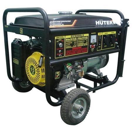 Купить Электрогенератор с колесами Huter DY8000LX