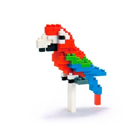 Купить Мини-конструктор Nanoblock «Зеленокрылый ара»