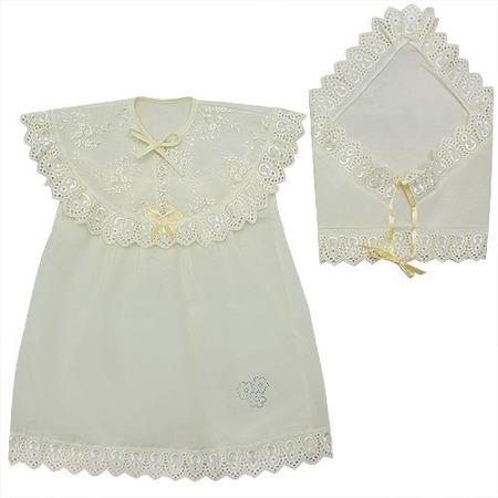 Купить Платье для крещения и косынка МАРГАРИТА для девочки