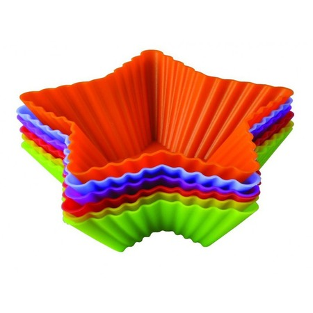 Купить Набор форм для выпечки силиконовый Regent «Тарталетки-звезды»