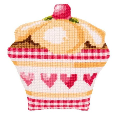 Купить Канва для вышивания подушки Vervaco «Пирожное»