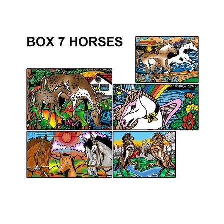 Купить Коробка-раскраска Color Velvet «Лошади»