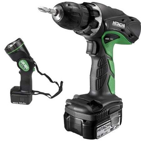 Купить Дрель-шуруповерт аккумуляторная с фонарем HITACHI DS14DCL