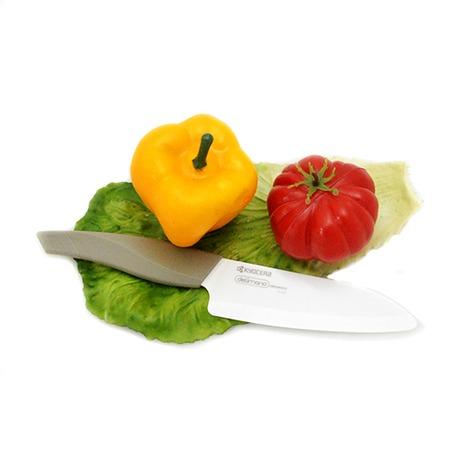 Фото Нож керамический Delimano Kyocera Santoku Knife. Длина лезвия: 13,5 см