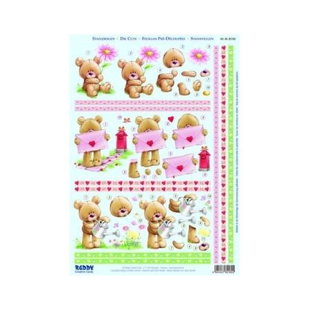 Купить Аппликация бумажная вырубная Reddy Creative Cards «Медвежонок в саду, на почте»
