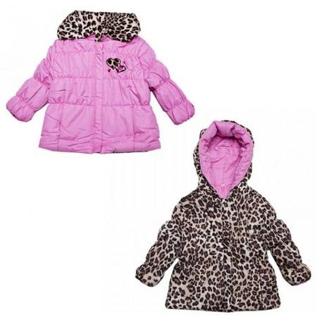 Купить Куртка утеплённая с капюшоном двусторонняя Amy Byer Леопард-pink