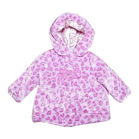 Купить Шубка с капюшоном Bon Bebe «Розовый ягуар»