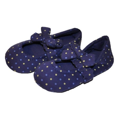 Купить Носки-тапочки HOBBY LINE «Горошек». Цвет: синий