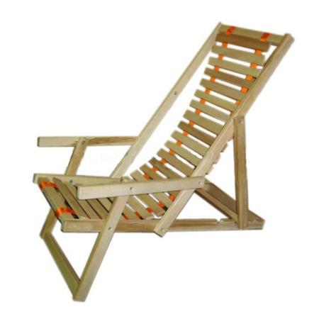 Купить Шезлонг Банные штучки деревянный с подлокотниками