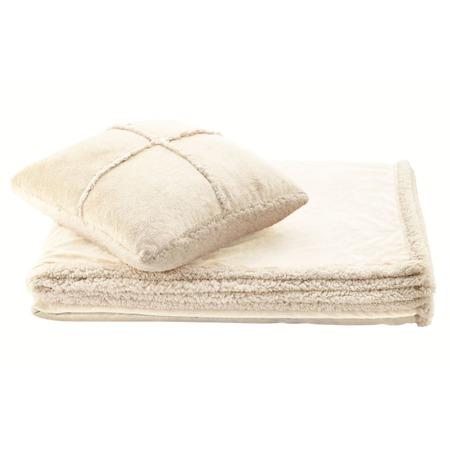 Фото Набор Dormeo Warm Hug: одеяло и подушка. Цвет: слоновая кость
